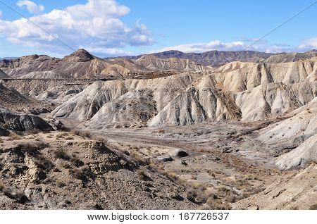 unique Tabesrnas desert near Almeria in Andalucia,Spain
