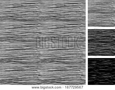 Seamless pattern of hand drawn sketches rough parallel hatching grunge pattern. texture has three different shades: light mid and dark tone.