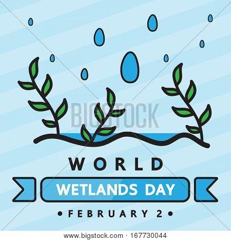 World wetlands day vector design for international day.