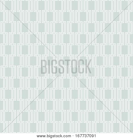 Seamless geometric pattern for your designs and backgrpounds. Modern ornament with repeating elements. Light blue and white pattern