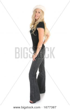 Casual Woman In Jeans