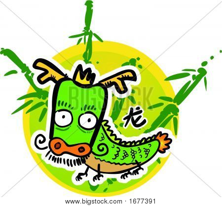 Cartoon Chinese Zodiac - Dragon