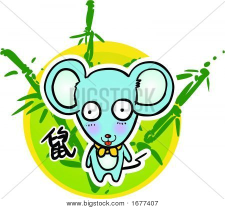 Cartoon Chinese Zodiac - Mouse