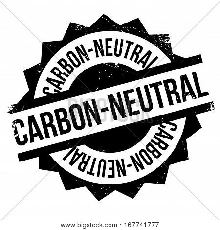 Carbon-neutral stamp. Grunge design with dust scratches. Effects can be easily removed for a clean, crisp look. Color is easily changed.