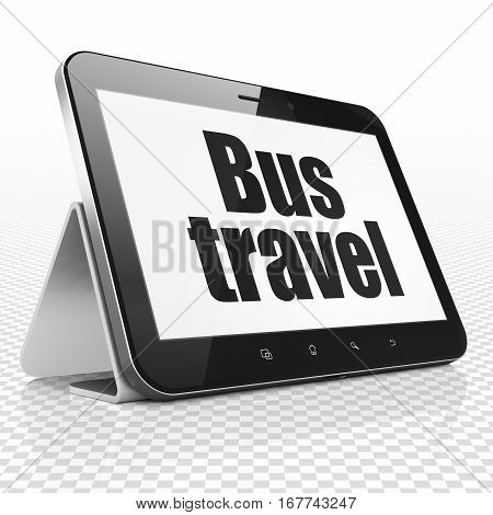 Tourism concept: Tablet Computer with black text Bus Travel on display, 3D rendering