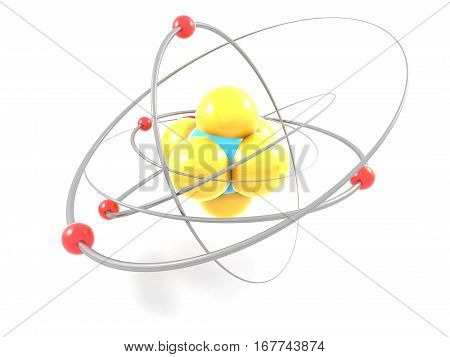 science model quantum molecule neutron structure 3d