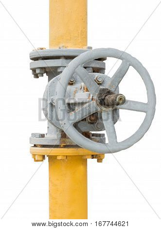 Pipes and Valves on a white background