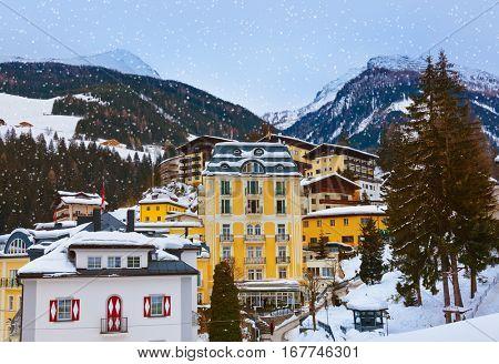 Mountains ski resort Bad Gastein Austria - nature and architecture background