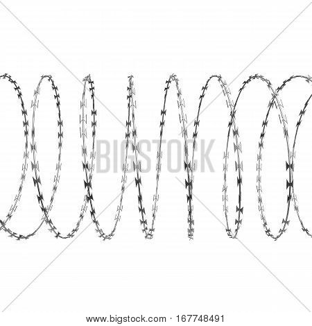 Coil Of Steel Barbed Wire