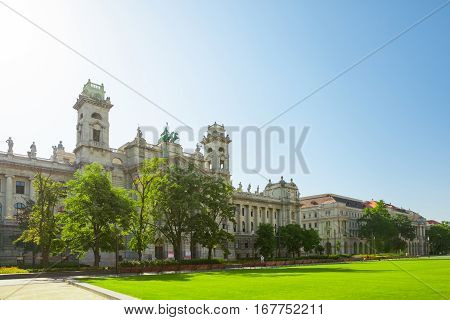 Museum Of Ethnography Located Near Hungarian National Parliament In Budapest, Hungary - June 16, 201
