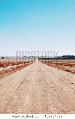 street desert hitchiking africa endless path long way