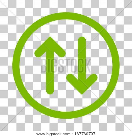 Flip rounded icon. Vector illustration style is flat iconic symbol inside a circle, eco green color, transparent background. Designed for web and software interfaces.