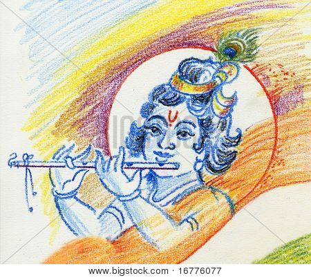 raster Lord Krishna