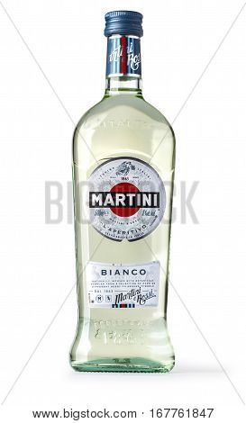 Bottle Of Martini Bianco Vermouth