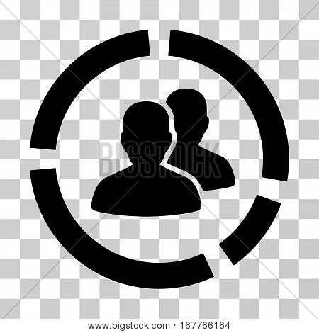 Demography Diagram icon. Vector illustration style is flat iconic symbol, black color, transparent background. Designed for web and software interfaces.