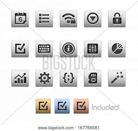 Interface Icons 4 / The vector file Includes 4 color versions in different layers.