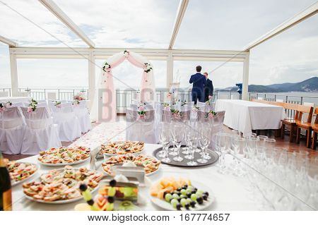 Cocktail Party At Wedding Ceremony
