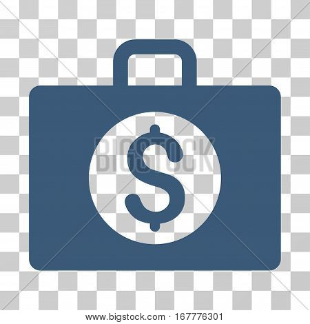 Accounting Case icon. Vector illustration style is flat iconic symbol, blue color, transparent background. Designed for web and software interfaces.