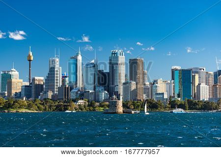 Sydney Cityscape Of Sydney Cbd With Ferries And Yachts
