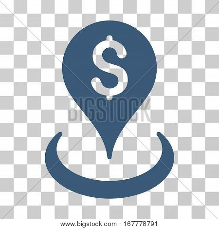 Geo Targeting icon. Vector illustration style is flat iconic symbol, blue color, transparent background. Designed for web and software interfaces.