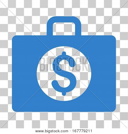 Accounting Case icon. Vector illustration style is flat iconic symbol, cobalt color, transparent background. Designed for web and software interfaces.
