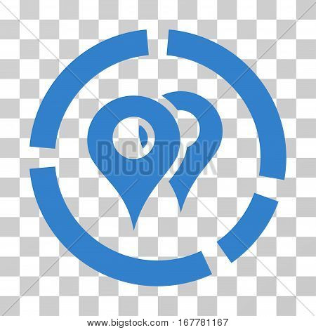 Geo Diagram icon. Vector illustration style is flat iconic symbol, cobalt color, transparent background. Designed for web and software interfaces.
