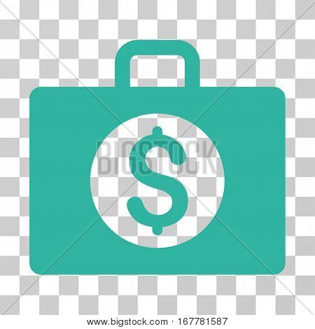 Accounting Case icon. Vector illustration style is flat iconic symbol, cyan color, transparent background. Designed for web and software interfaces.