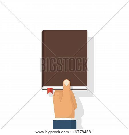 Book In Hands Vector