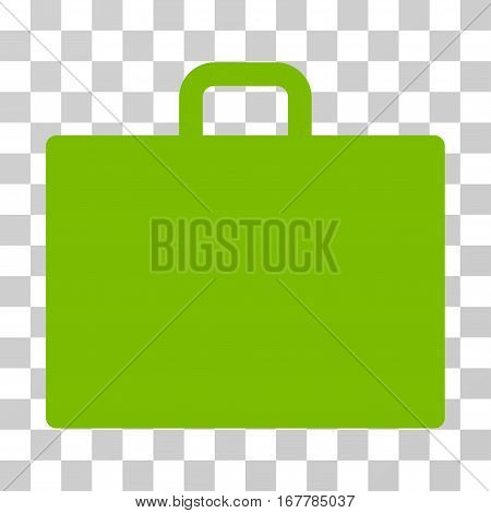 Case icon. Vector illustration style is flat iconic symbol, eco green color, transparent background. Designed for web and software interfaces.