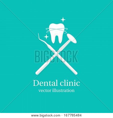 Dental Tools Icon.