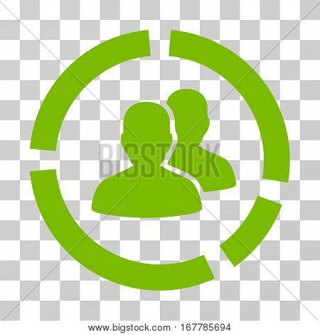 Demography Diagram icon. Vector illustration style is flat iconic symbol, eco green color, transparent background. Designed for web and software interfaces.
