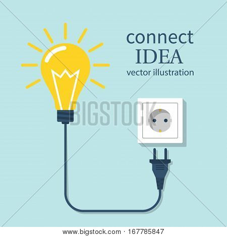 Connect Idea. Bulb Light
