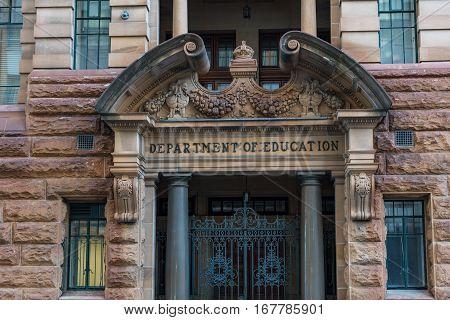 Department Of Education On Bridge Street, Sydney Cbd