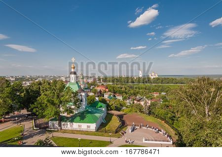 The View Of The City Of Vladimir And The Orthodox Church, Russia.