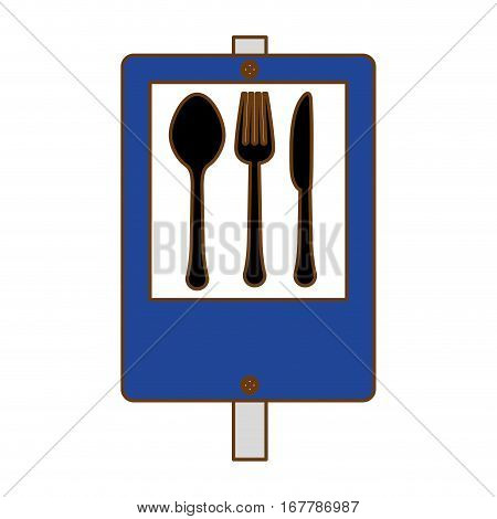 blue signal restaurant near icon design, vector illustration