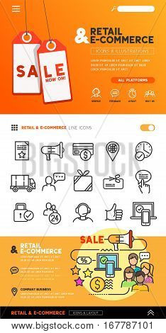People icons and illustrations with teams and connecting groups. Vector illustration.