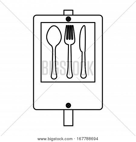 figure signal restaurant near icon design, vector illustration