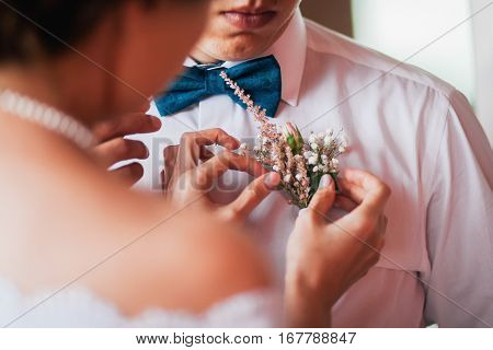 Groom's Boutonniere For Wedding