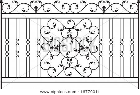 Wrought Iron Gate, Fence design