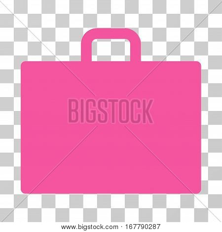 Case icon. Vector illustration style is flat iconic symbol, pink color, transparent background. Designed for web and software interfaces.