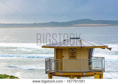 Surf Rescue Tower On Elouera Beach, Cronulla, Australia