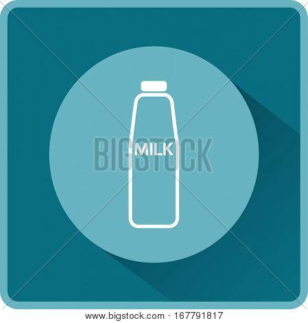 Flat icon. Milk.
