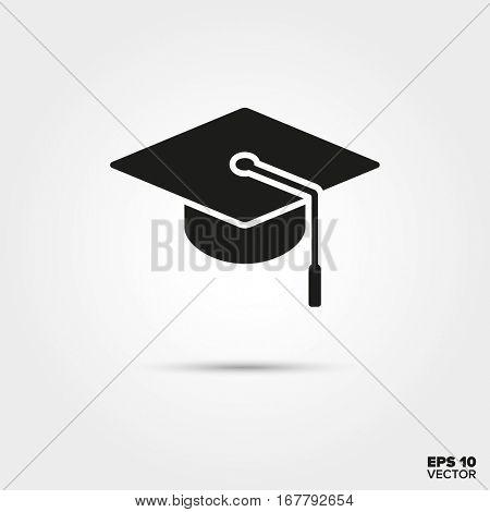 Mortarboard icon. Education Symbol. EPS 10 Vector.
