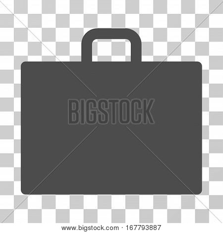 Case icon. Vector illustration style is flat iconic symbol, gray color, transparent background. Designed for web and software interfaces.