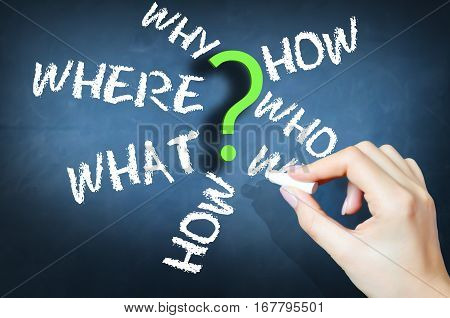 Questions why who when where suggesting procedures or business process inside company