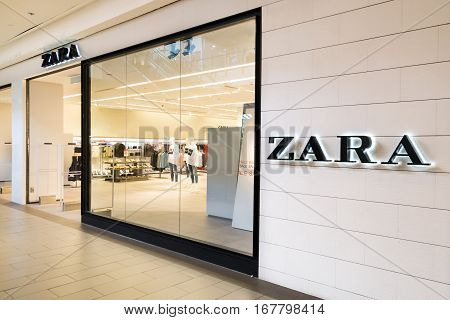 Kuala Lumpur, Malaysia -  January 29, 2017: Zara Is A Spanish Clothing And Accessories Retailer Base