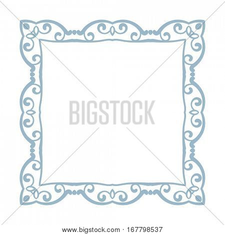 Square frame Isolated design element