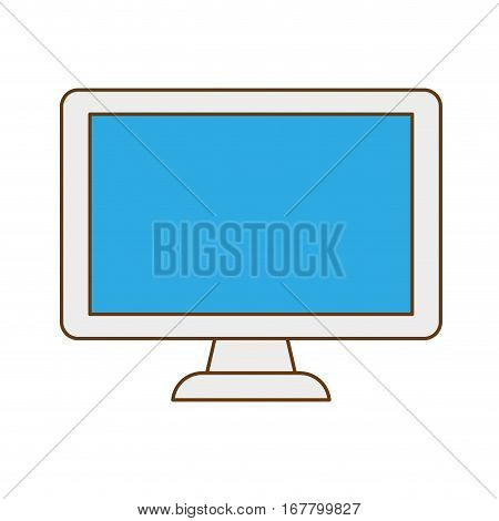Connected computer databese image design, vector illustration