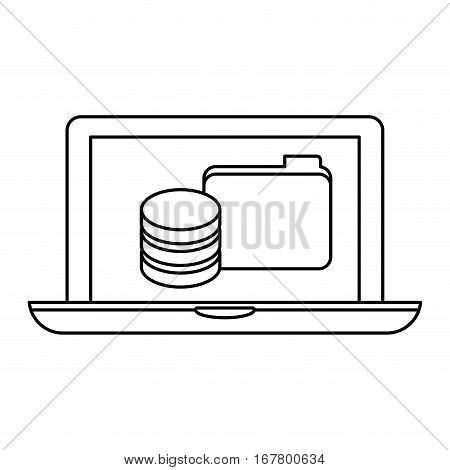 figure computer web hosting icon design, vector illustration
