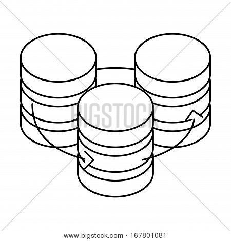 figure database hosting icon image design, vector illustration